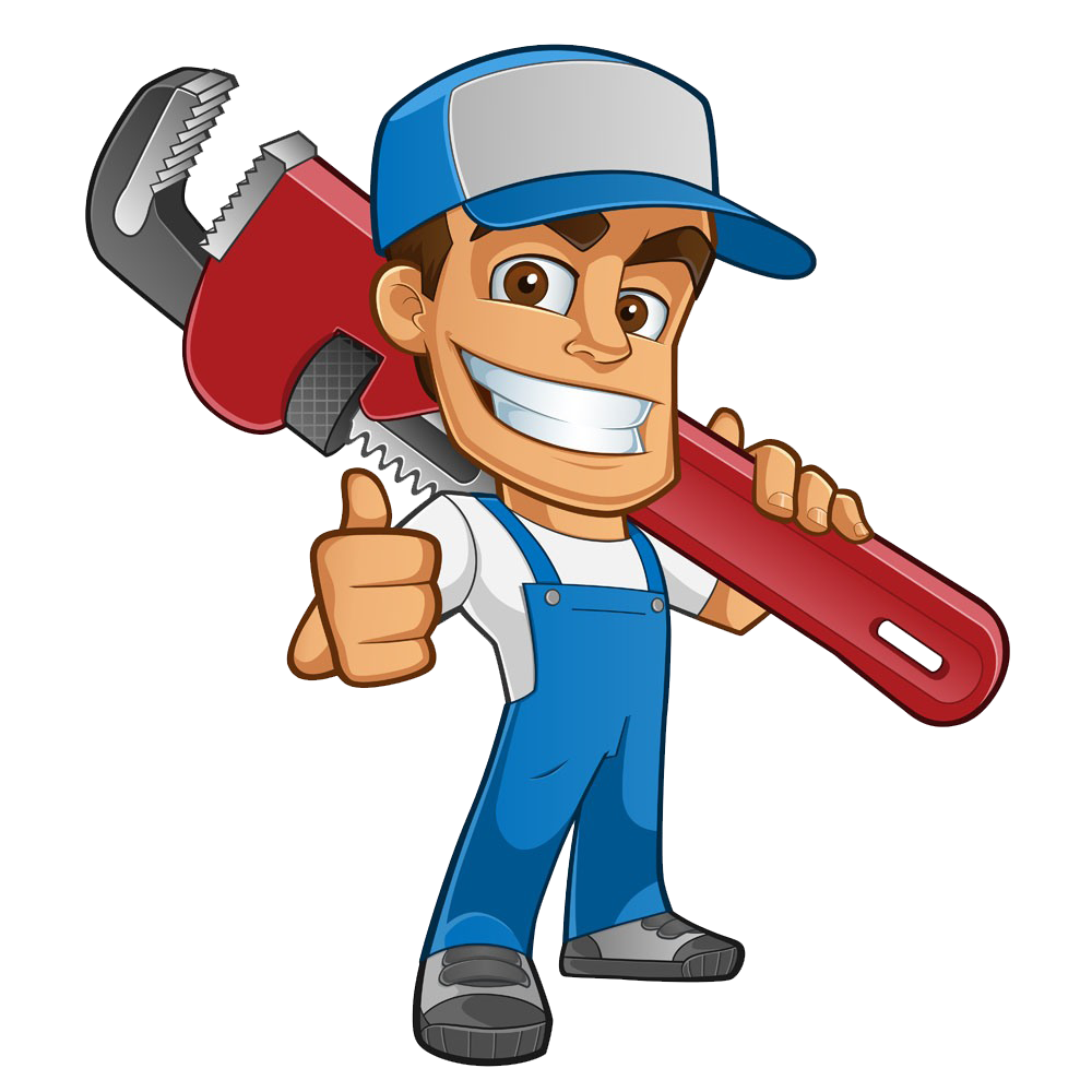 Plumber atta boy plumbing. Mechanic clipart handyman