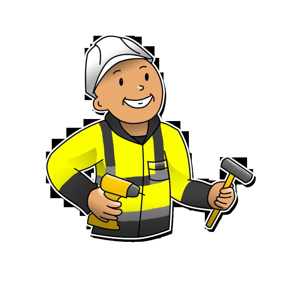 North lakes . Handyman clipart maintenance guy