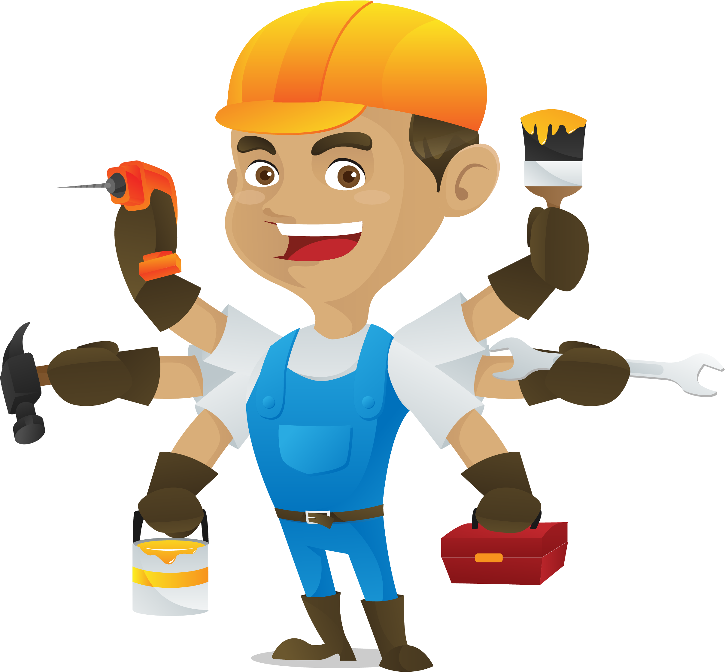 Hd with multiple . Handyman clipart maintenance guy