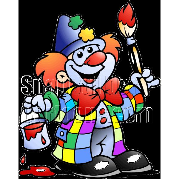 Clown . Painter clipart person painting
