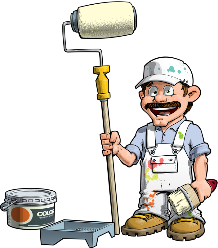 House and painting clip. Painter clipart decorator