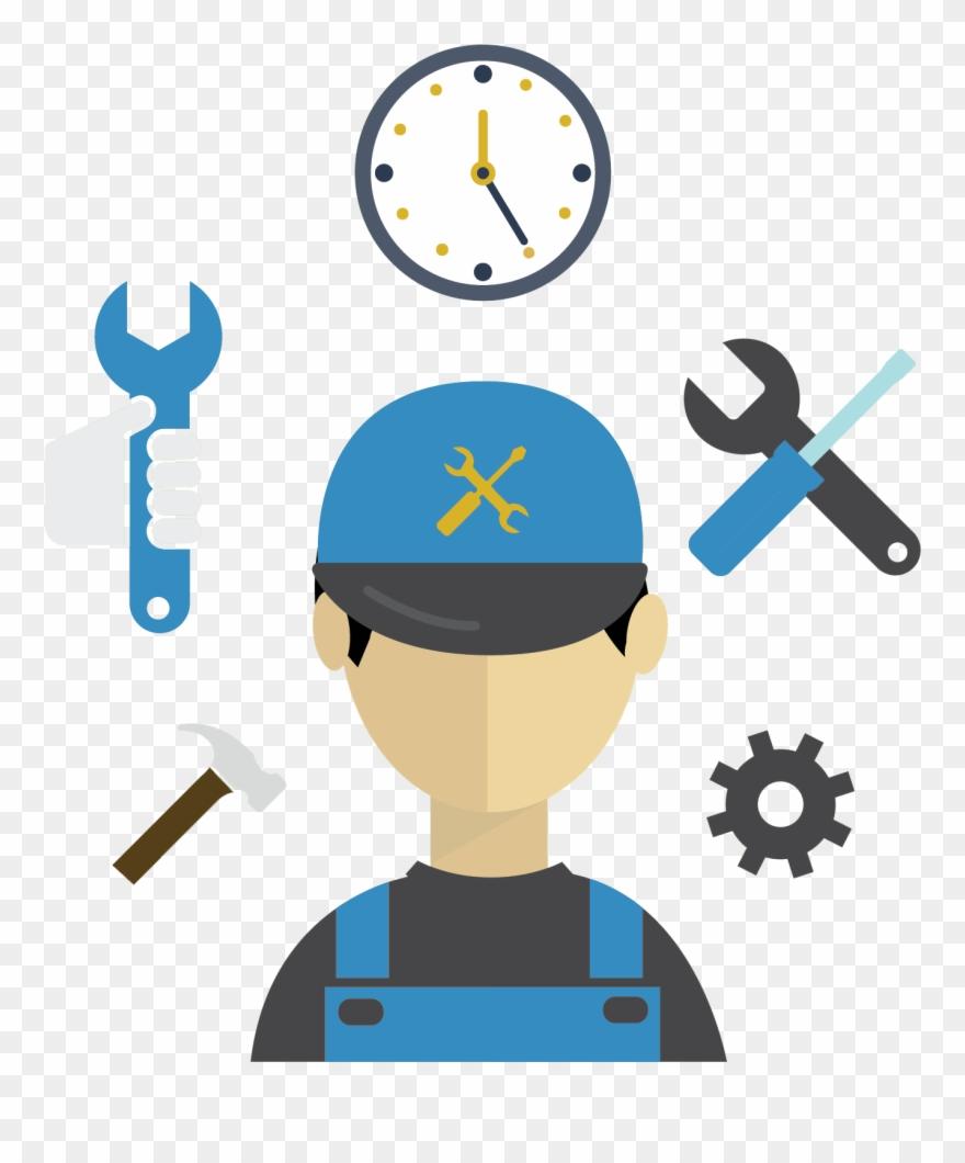Svg stock announcements . Handyman clipart preventive maintenance