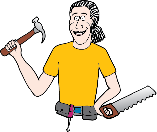 Handyman clipart roof work. Alexi malenky home