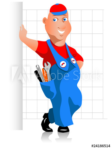 Handyman clipart skilled. Buy this stock vector
