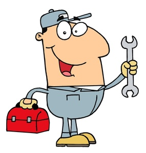Mechanic clipart handyman. Or holding a toolbox