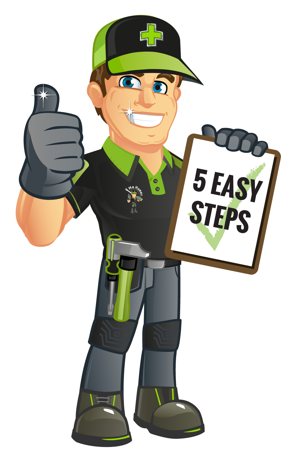 simple steps handy. Mr clipart suited man
