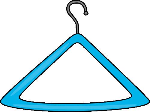 Clip art image blue. Hanger clipart