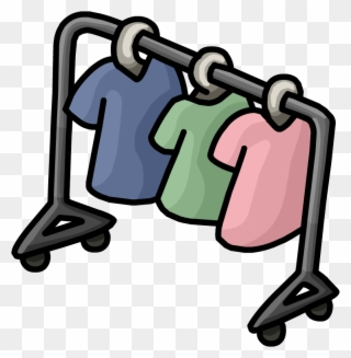 Clothing clothes rail clip. Hanger clipart animated
