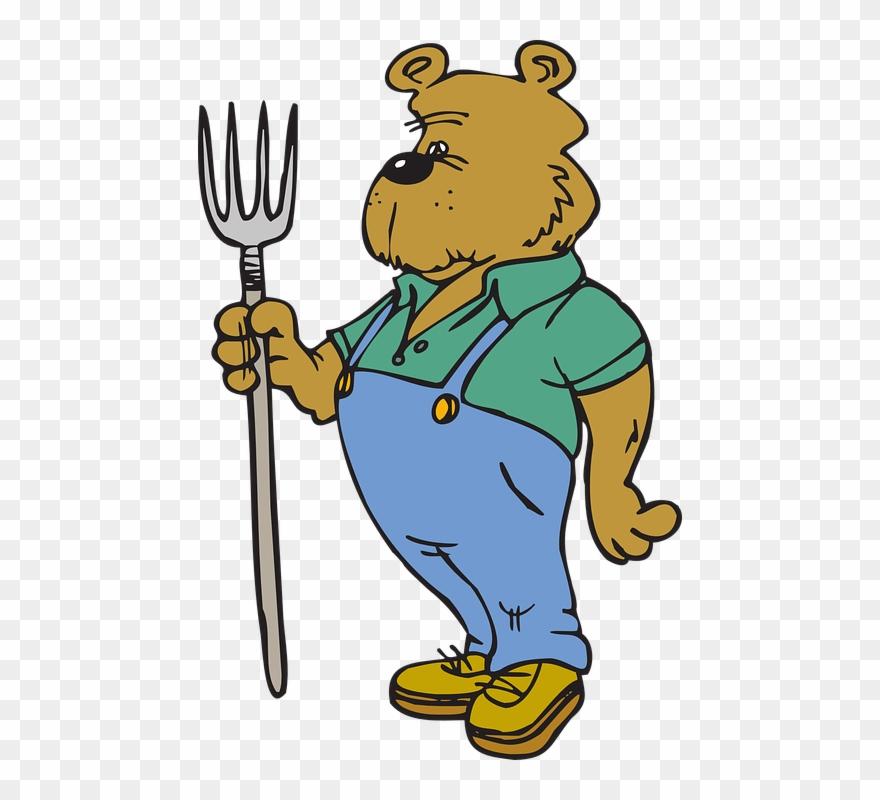 Hanger clipart animated. Farm clothes cartoon bear