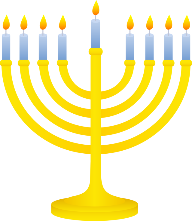 Decorations got you down. Menorah clipart december holiday