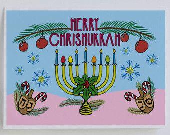 Hanukkah clipart chrismukkah. Card jewish christmas