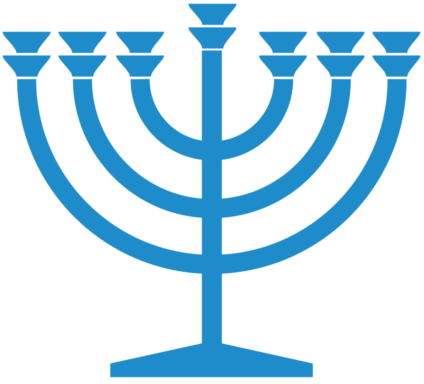 Hanukkah clipart judaism. File menorah blue svg
