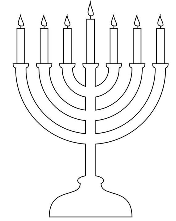 Coloring pages menorahs this. Hanukkah clipart menorah