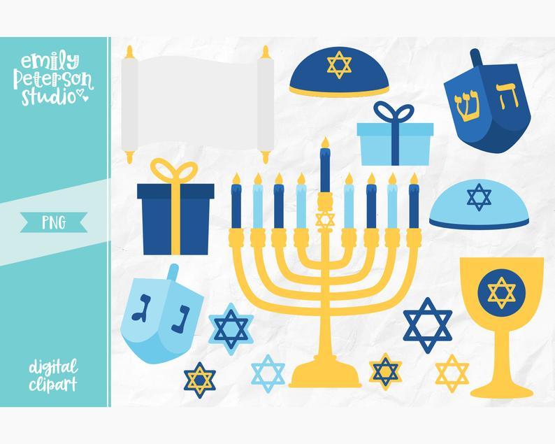 Hanukkah clipart menorah. Clip art dreidel commercial