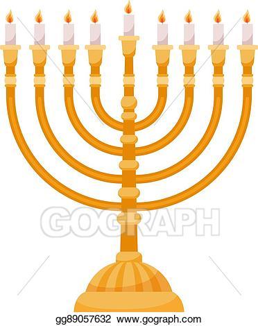 Hanukkah clipart menorah. Vector stock isolated on