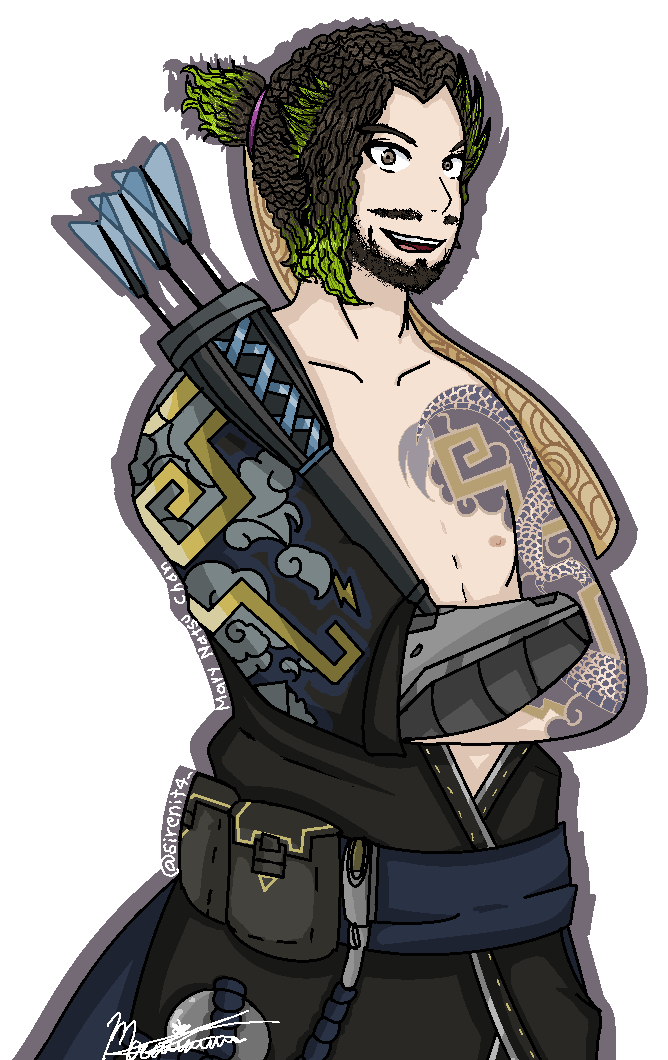 Hanzo overwatch png. Ruthvenvol by maryhatsuneacoso on