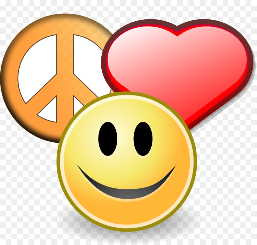 Happiness clipart. Peace symbols love clip