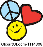 Happiness clipart. Peace love