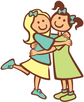 Here a friend there. Happiness clipart