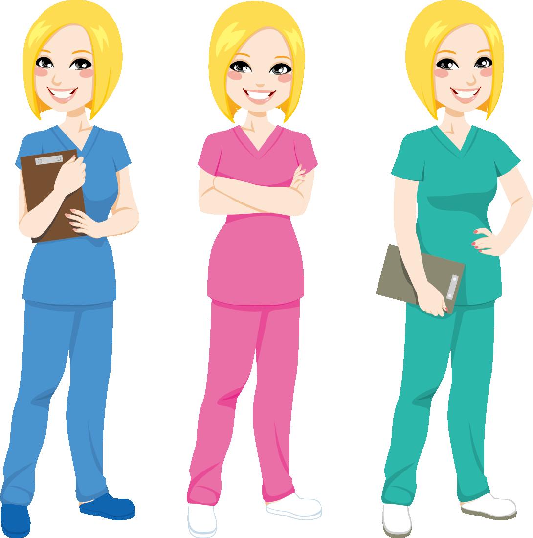 Nursing clipart nurse uniform. Cartoon scrubs clip art