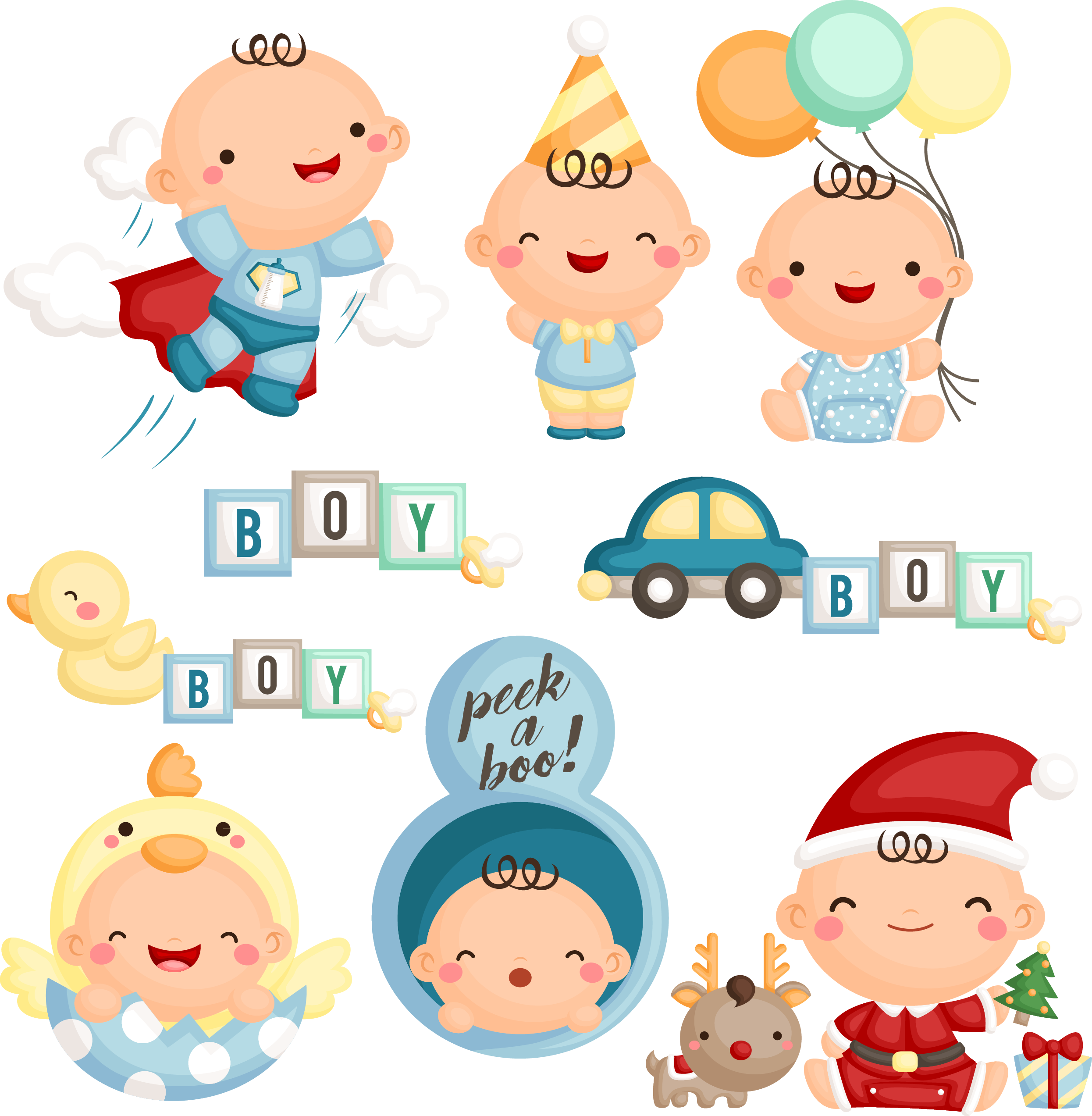 Infant child development stages. Hero clipart baby superman