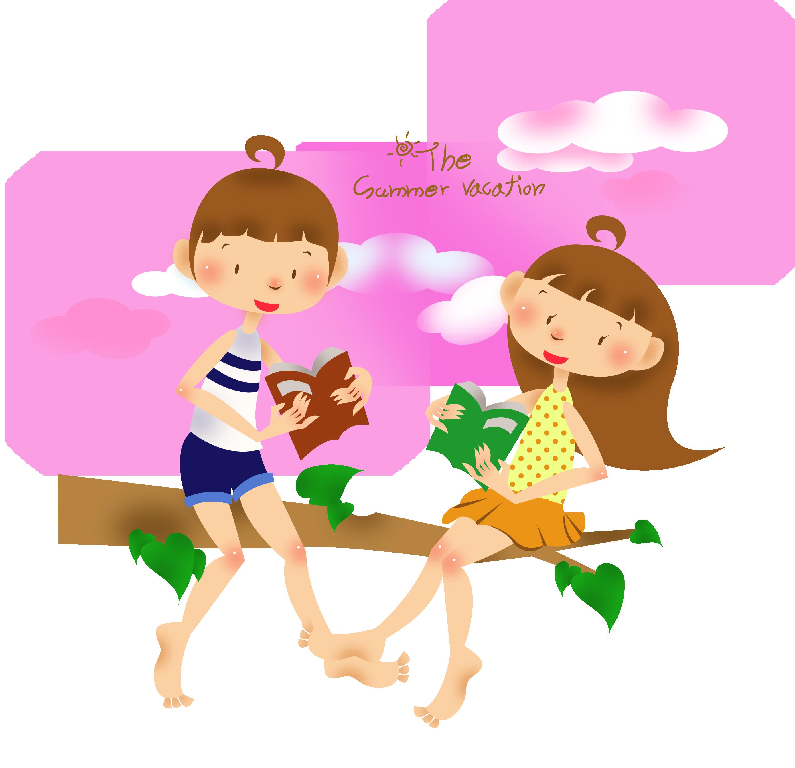 Child summer clip art. Toddler clipart summertime fun