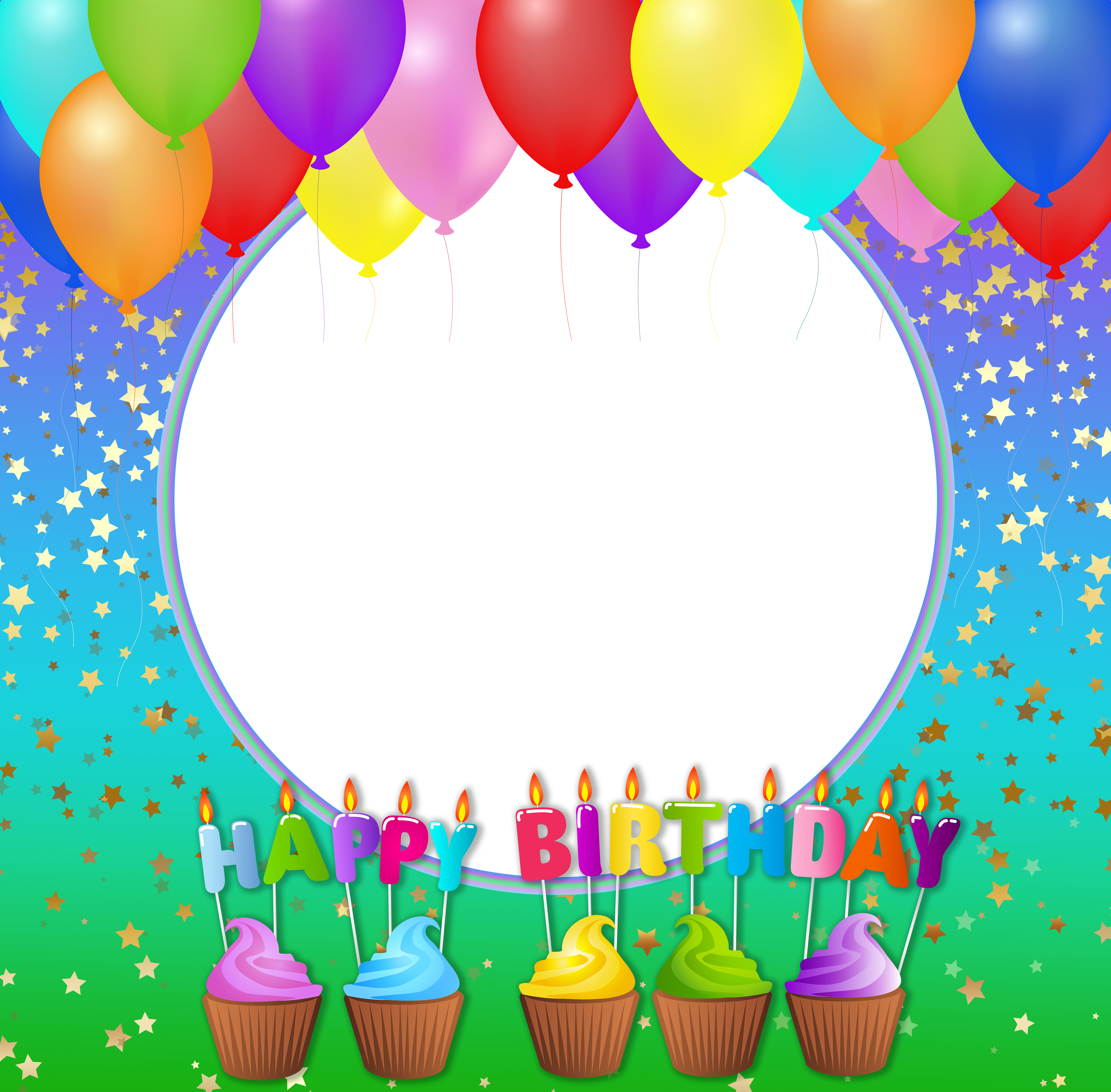 Happy birthday frame png.  collection of clipart