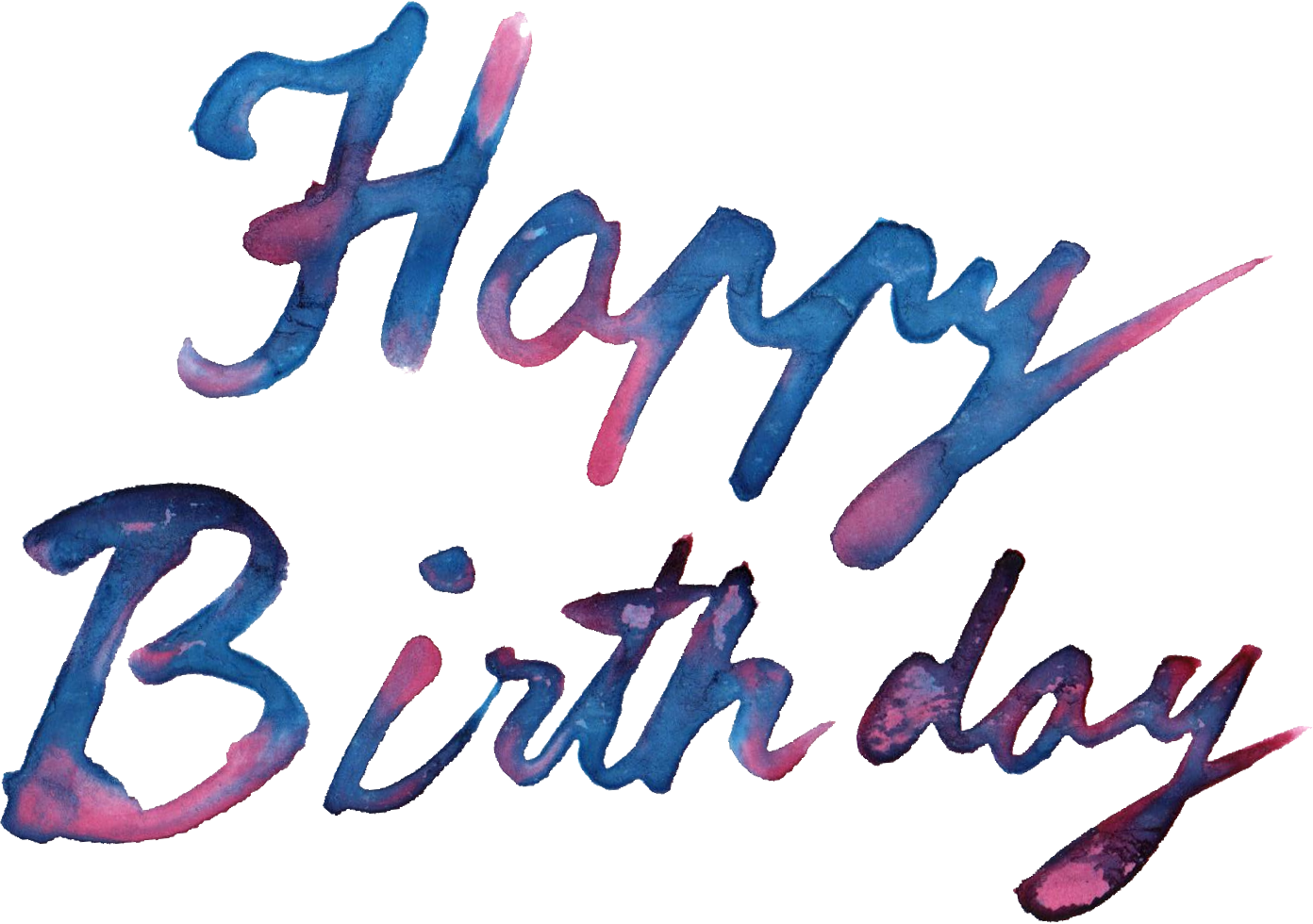 watercolor transparent onlygfx. Happy birthday images png