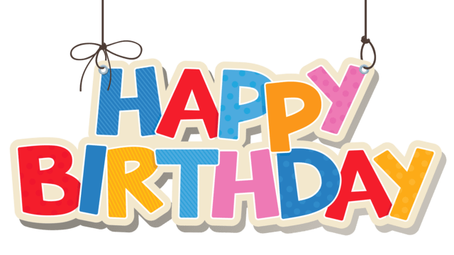 Happy birthday images png. Colourful transparent stickpng download