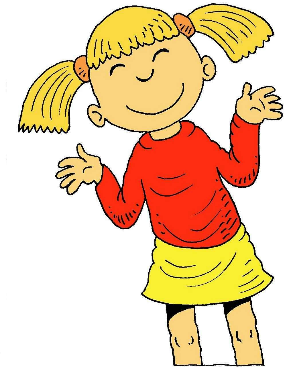 collection of girl. Happy clipart