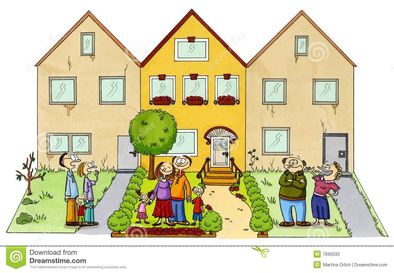 Neighbors clipart new home. Clip art neighborhood salaharness