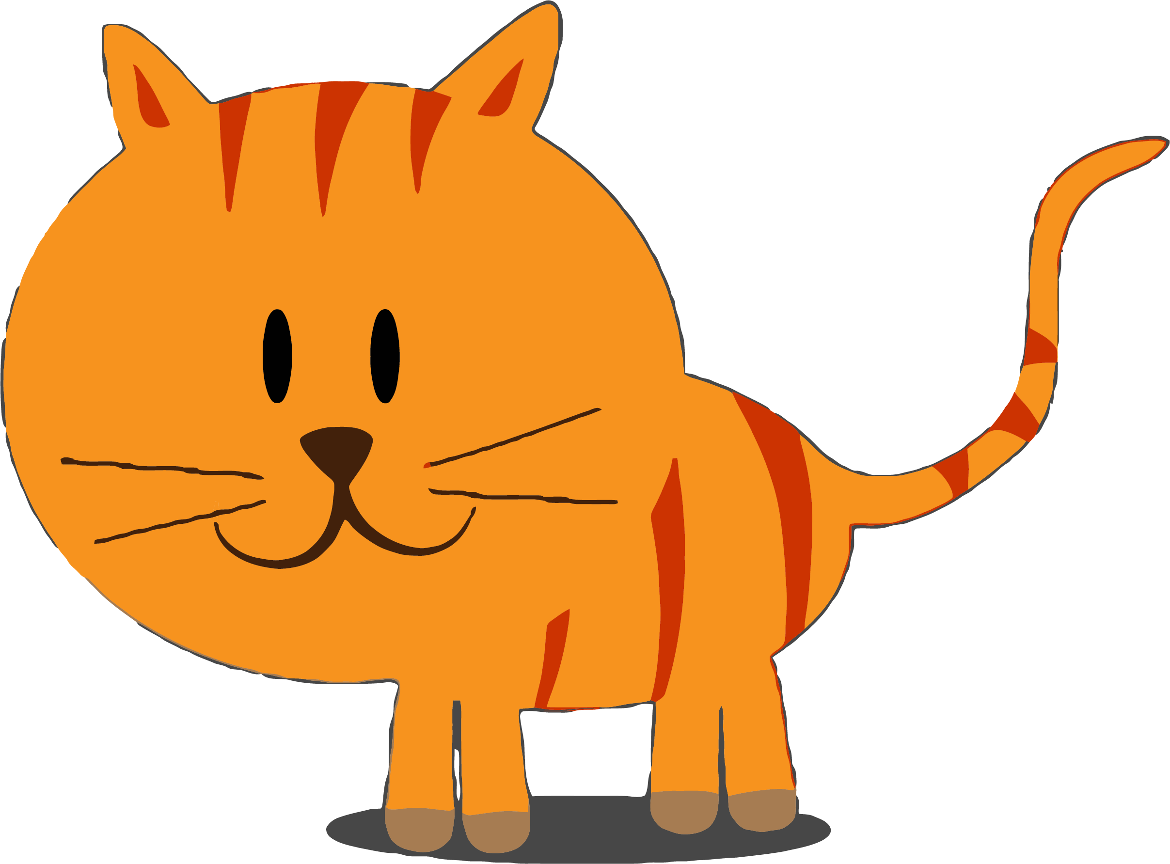 Happy clipart orange. Kitty cat png clipartly