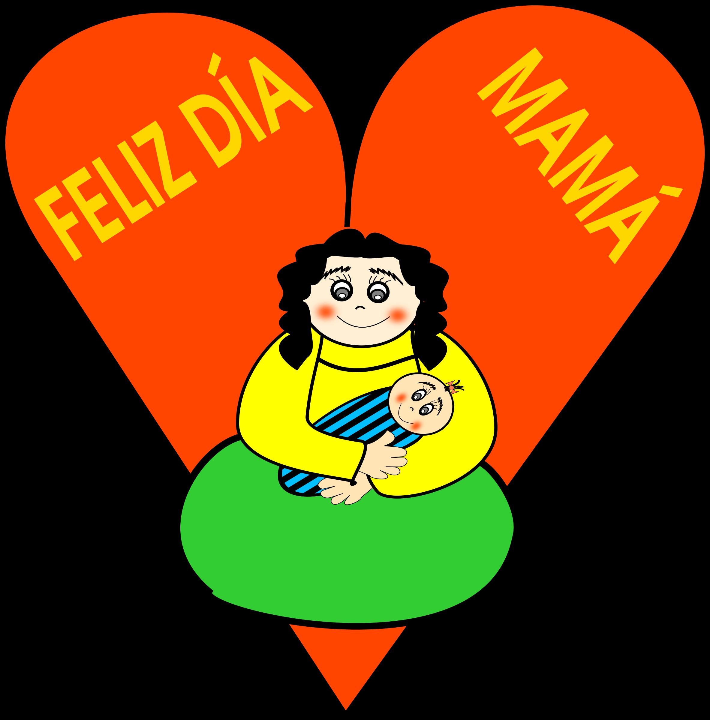 Day mother big image. Happy clipart orange