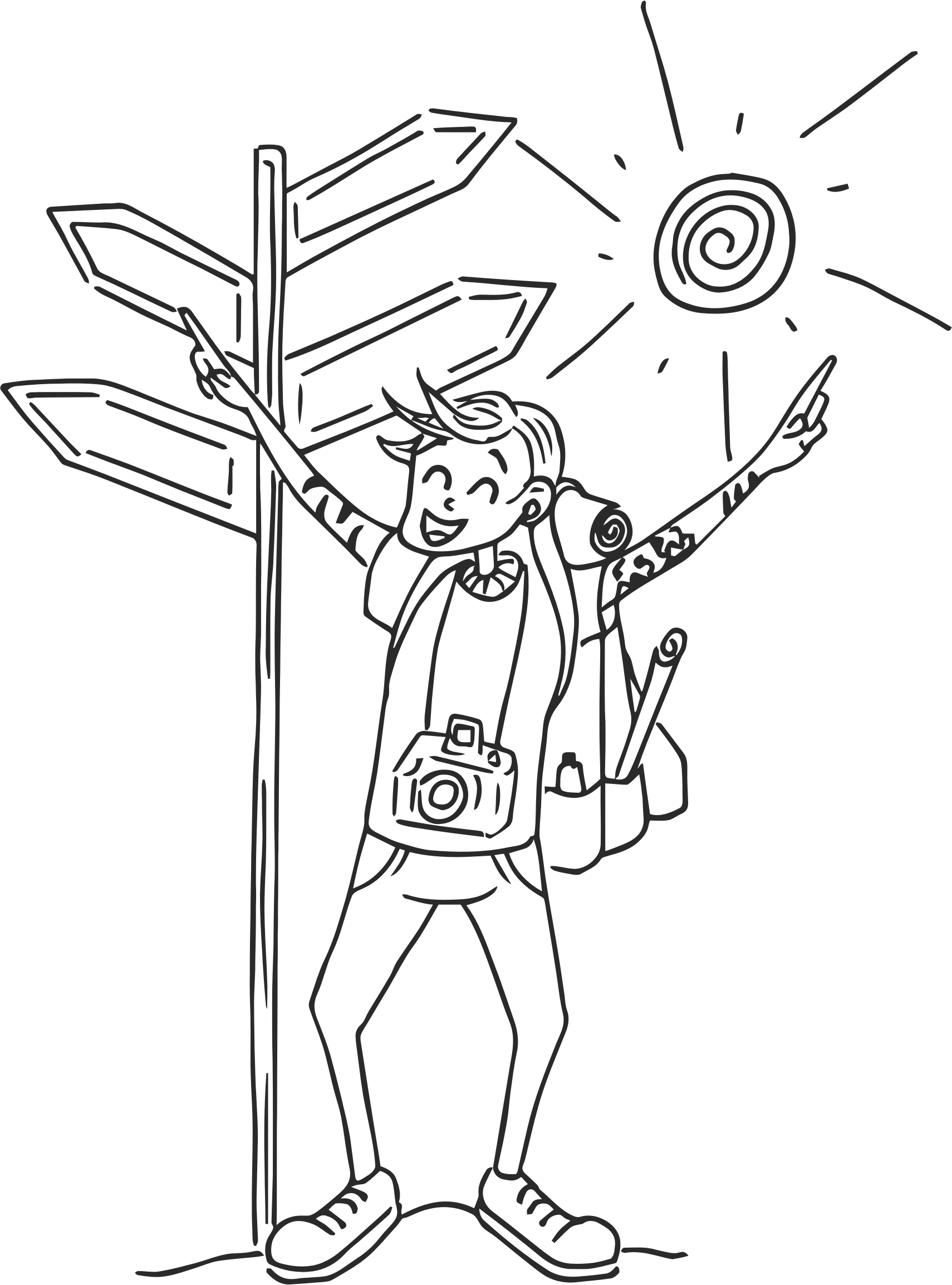 Free on dumielauxepices net. Happy clipart traveller
