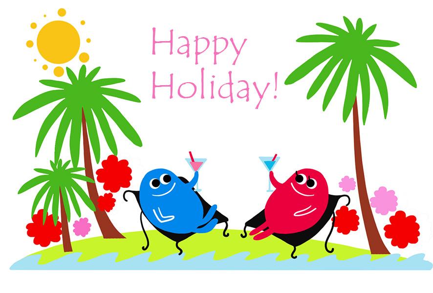 Holidays clipart holiday card. Happy vacation clip art