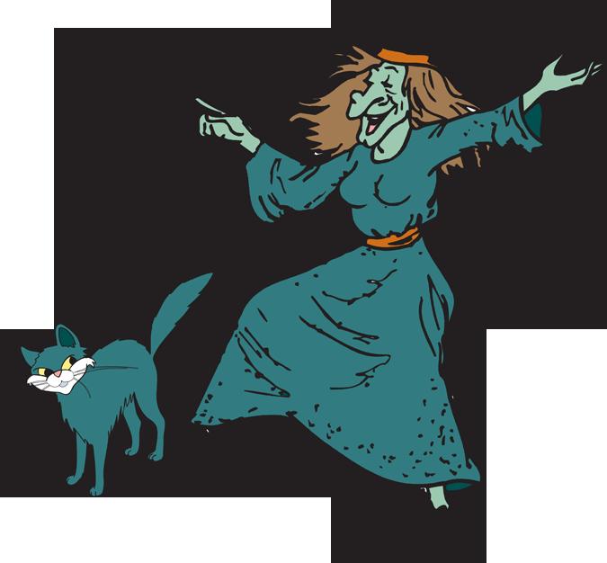 Witch clipart goofy. Fun halloween kid clipartix