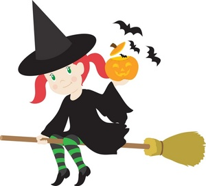 Witch clipart happy. Halloween clip art library
