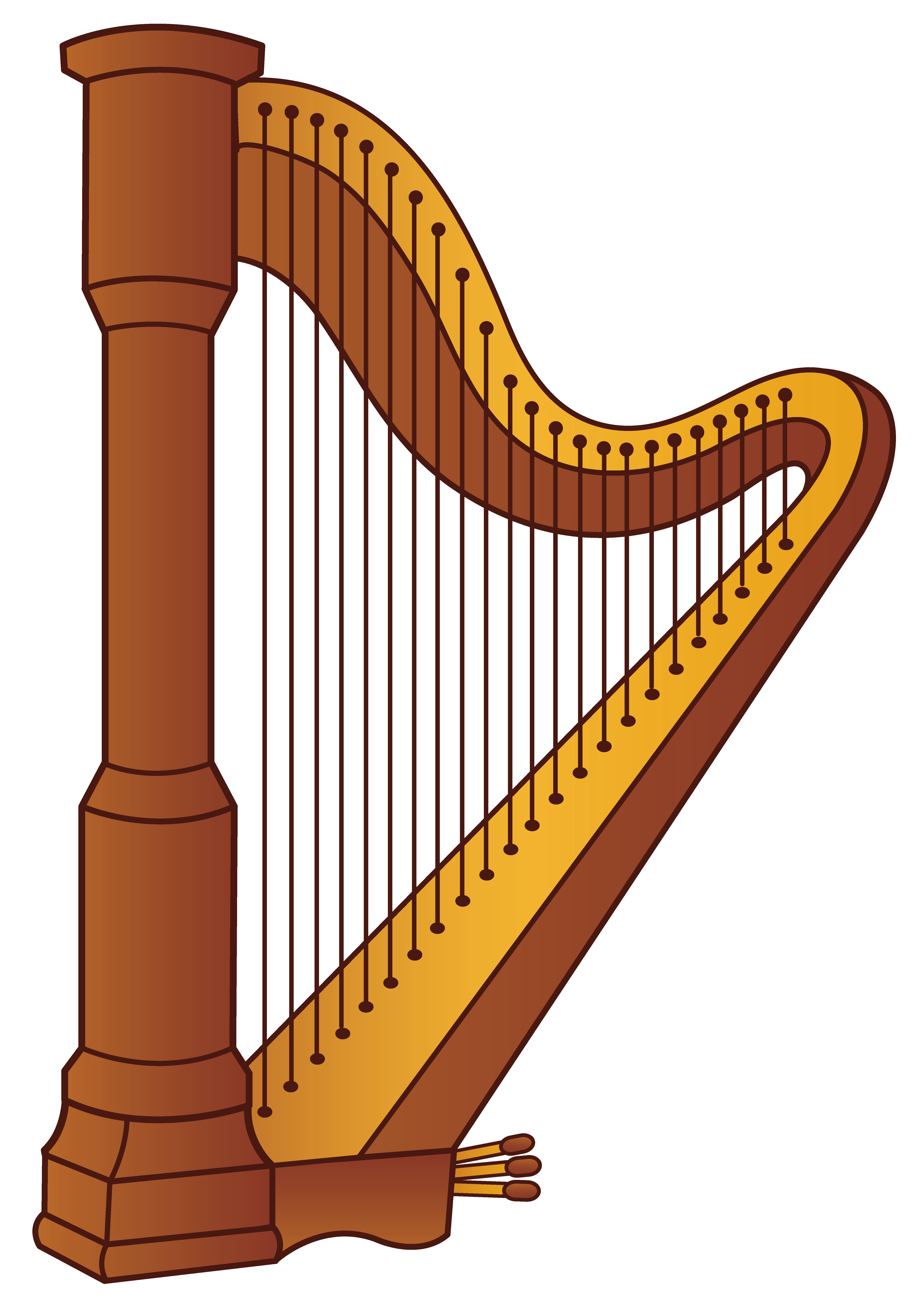Harp png picture gallery. Clipart piano frame