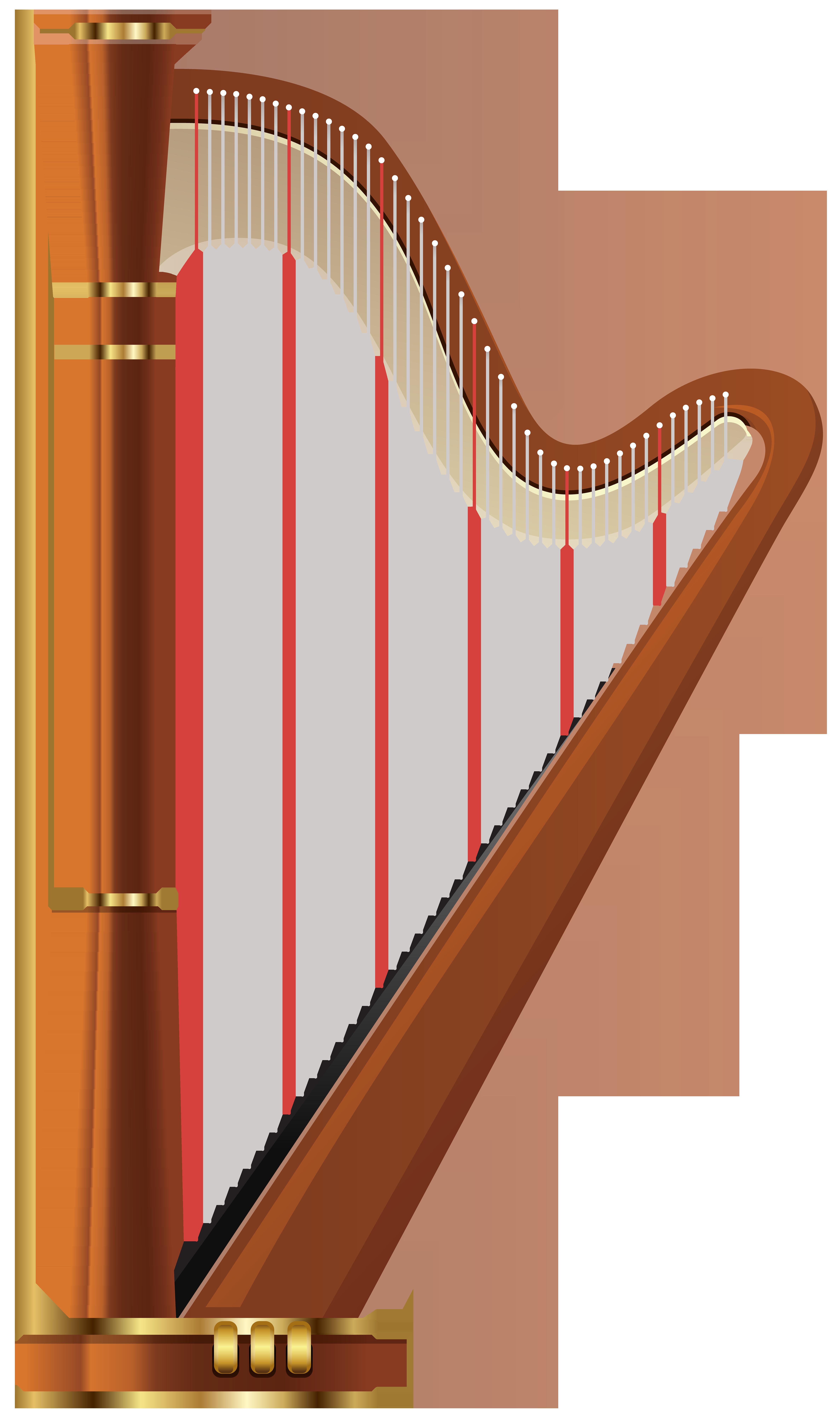 Transparent png clip art. Harp clipart