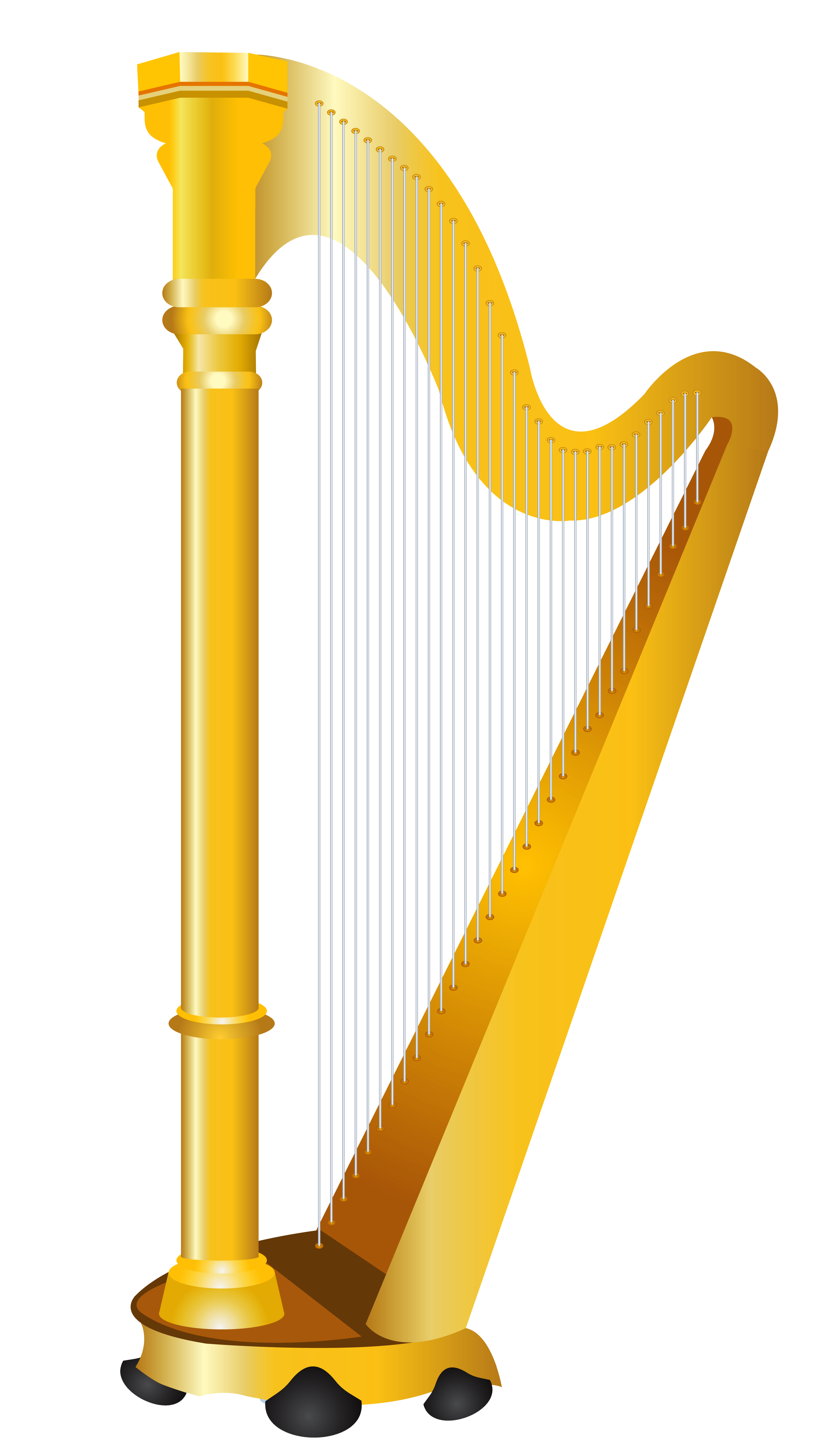 Harp clipart. Golden png picture gallery
