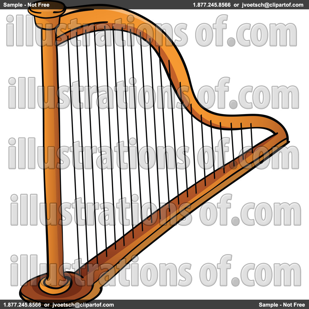 Harp clipart. Silhouette at getdrawings com