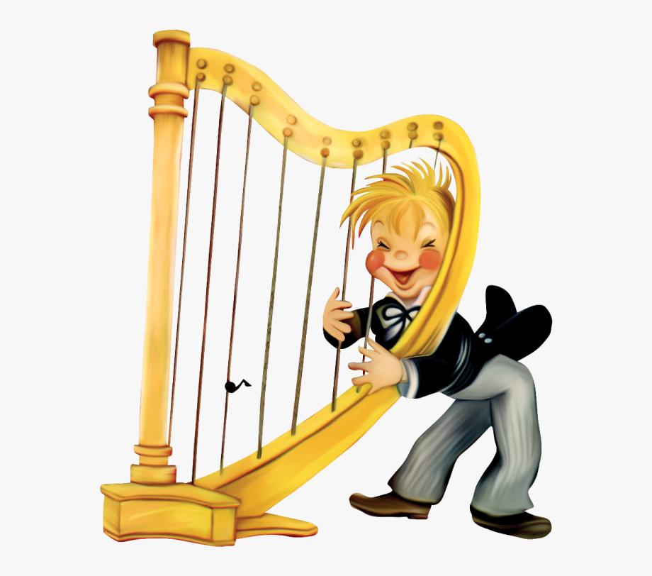 Harp clipart harp player. Transparent arpa para ni