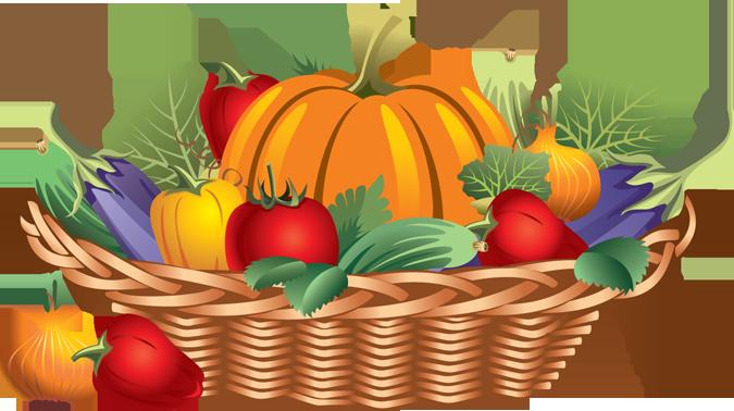 Basket . Harvest clipart