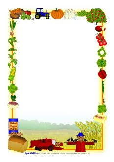 Themed a page borders. Harvest clipart border