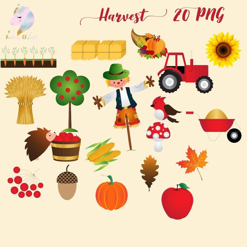 Clip art thanksgiving autumn. Harvest clipart decoration