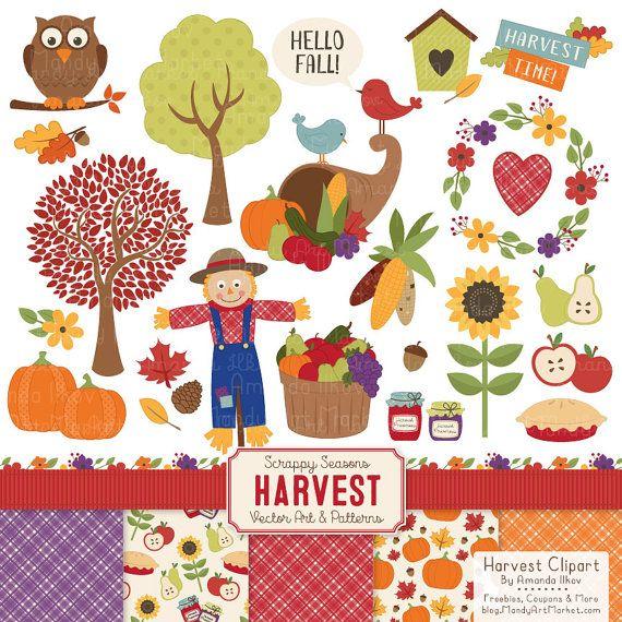Harvest clipart decoration. Fall clip art patterns