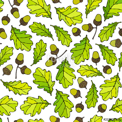 Seamless endless pattern of. Harvest clipart oak leaves