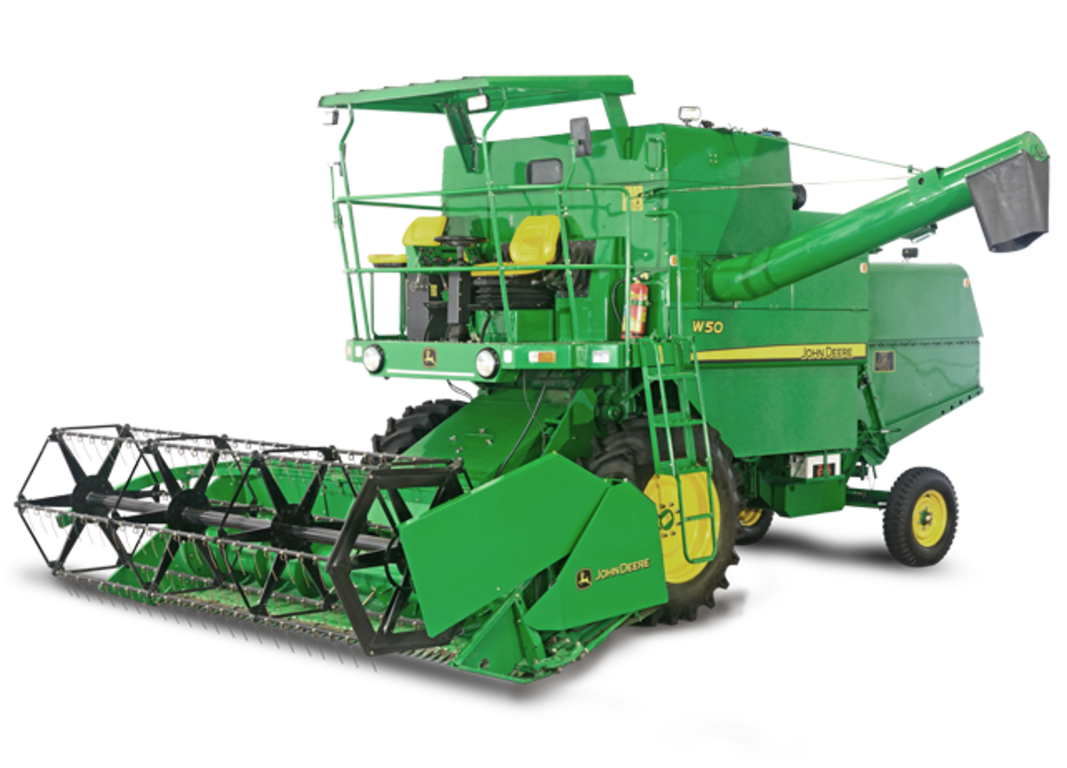 W combine grain harvesting. Wheat clipart rice harvester