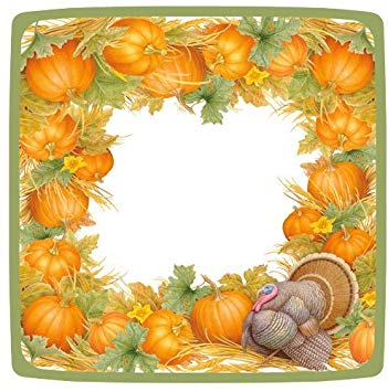 Caspari salad ct . Harvest clipart thanksgiving dinner plate