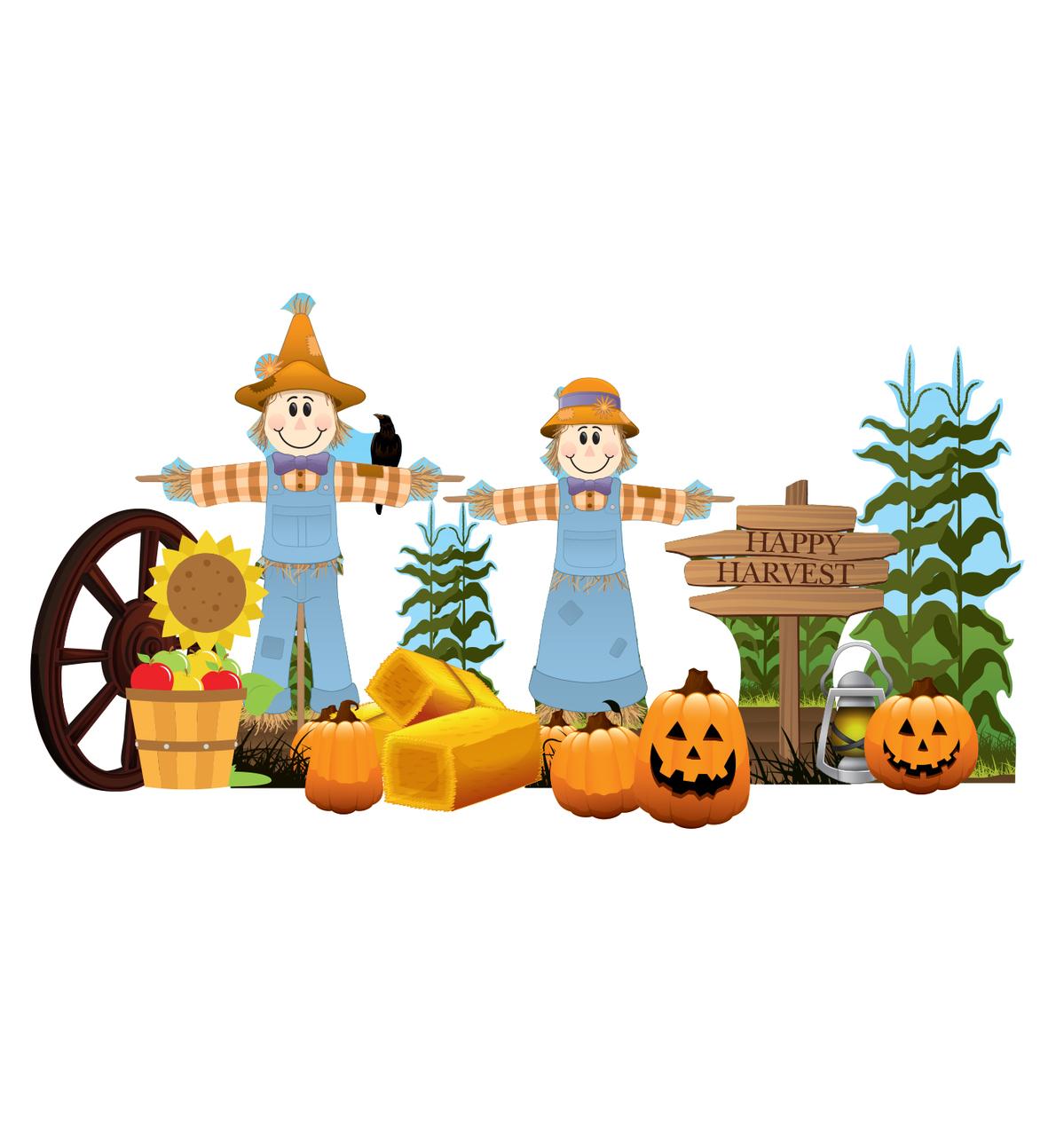 Fall cardboard cutout . Harvest clipart theme